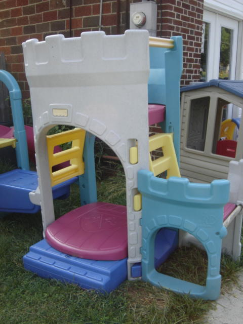 fisher price castle slide and swing 3