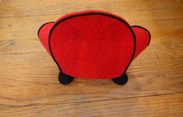"Blues Clues Plush Red Thinking Chair by Eden 9 5""X12""X5 5"