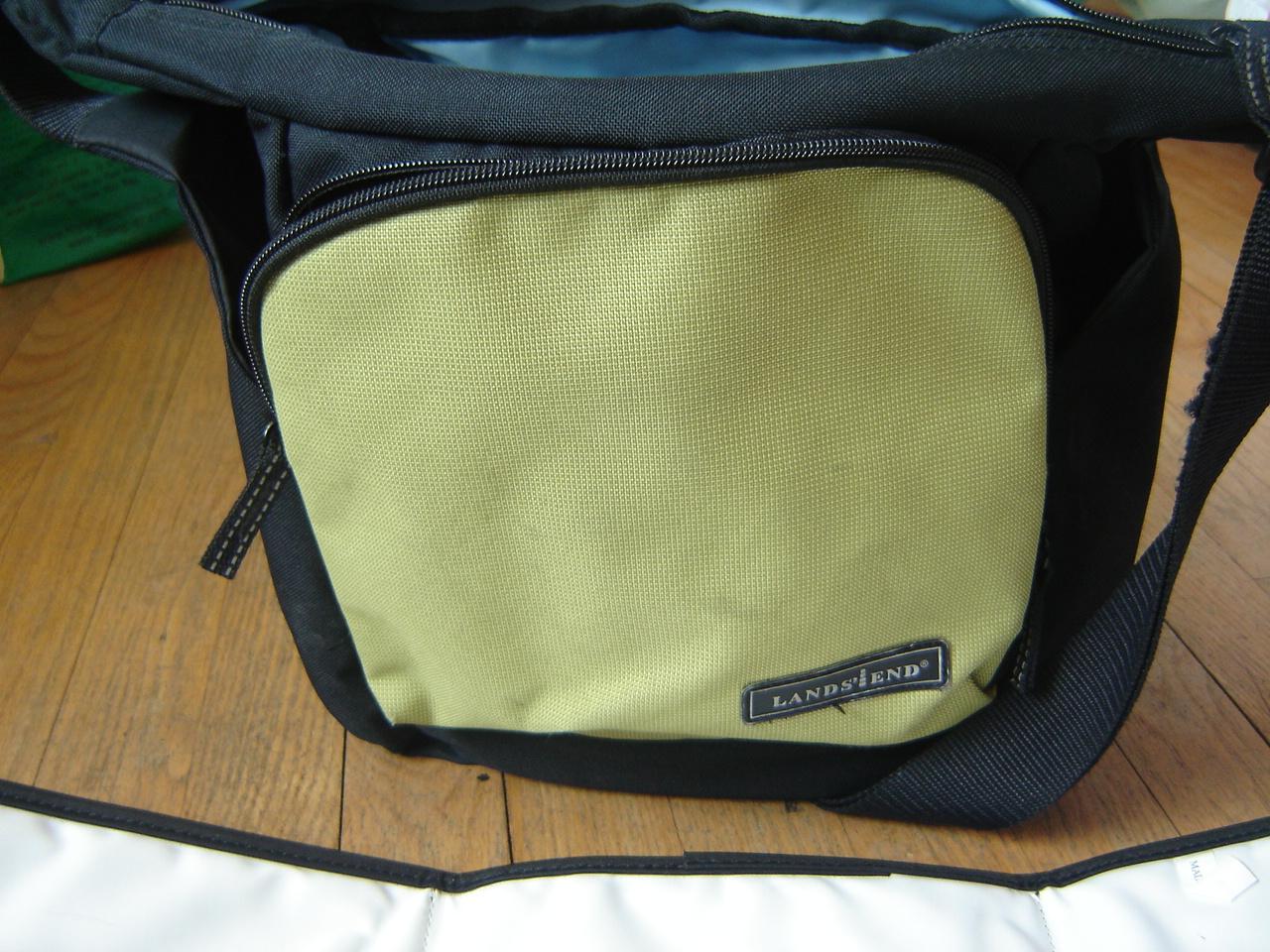 land 39 s end little tripper green black diaper bag changing mat. Black Bedroom Furniture Sets. Home Design Ideas