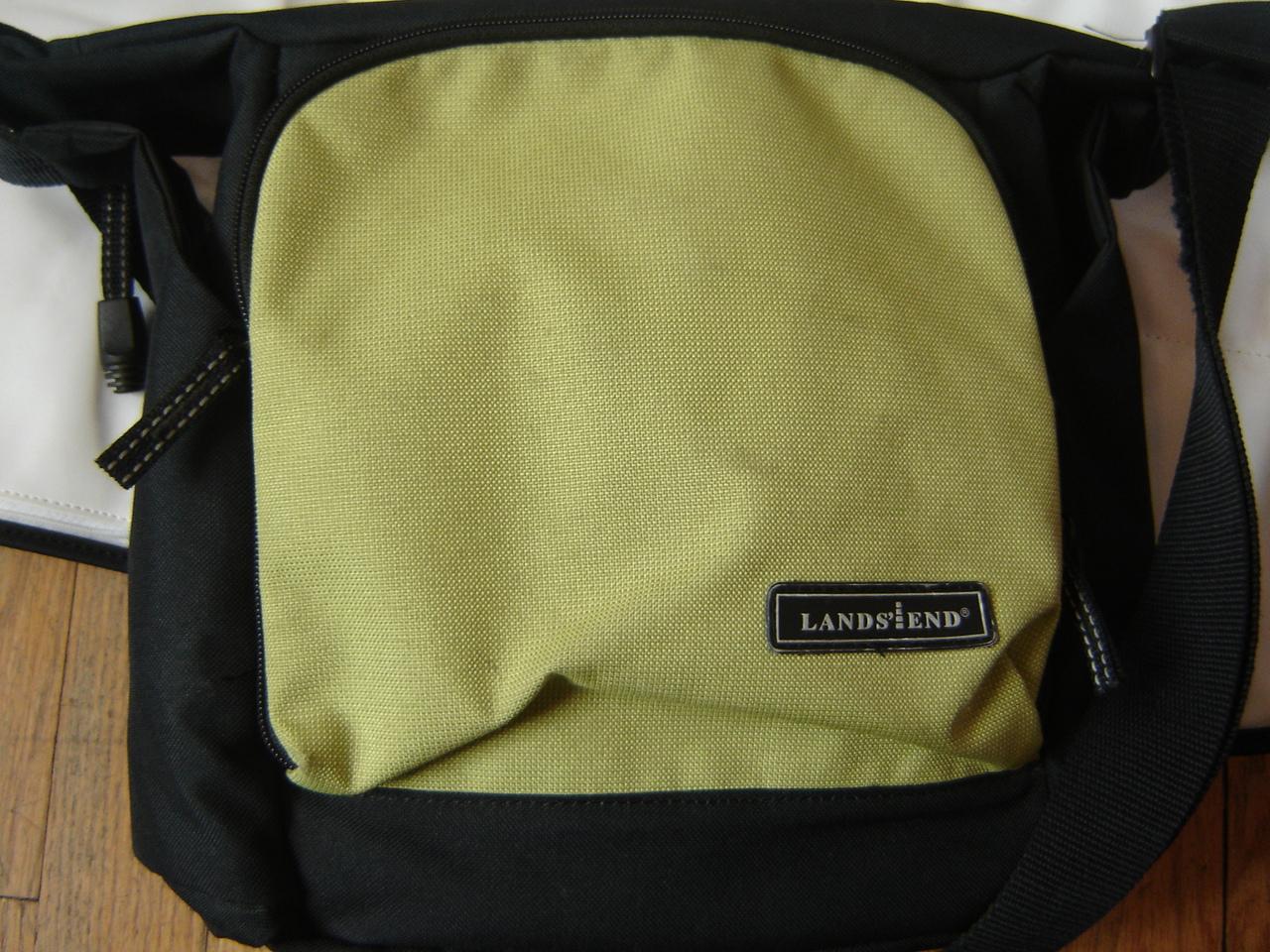 land 39 s end little tripper green black diaper bag changing mat ebay. Black Bedroom Furniture Sets. Home Design Ideas