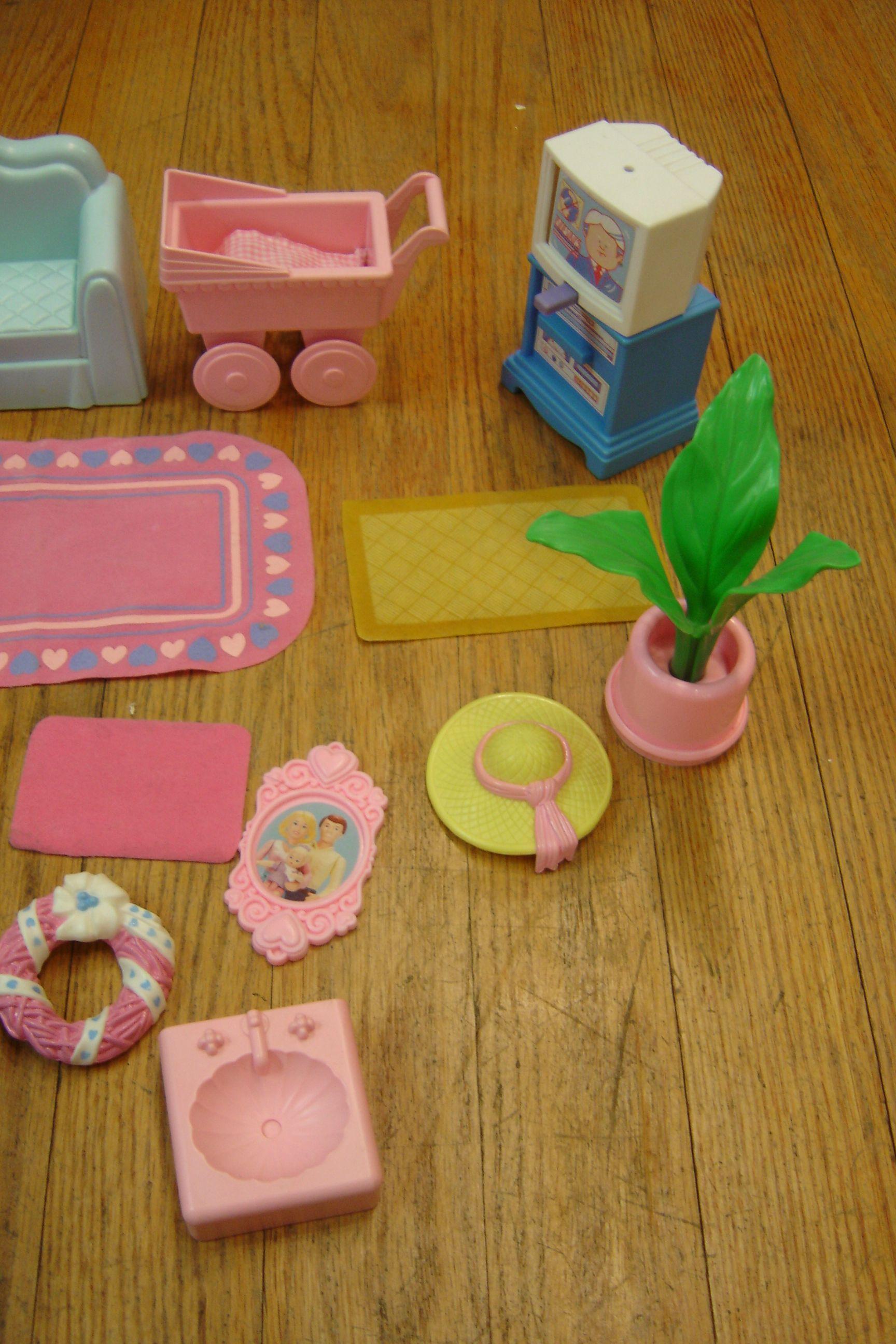 Vintage 1990 S Playskool Doll House Furniture And