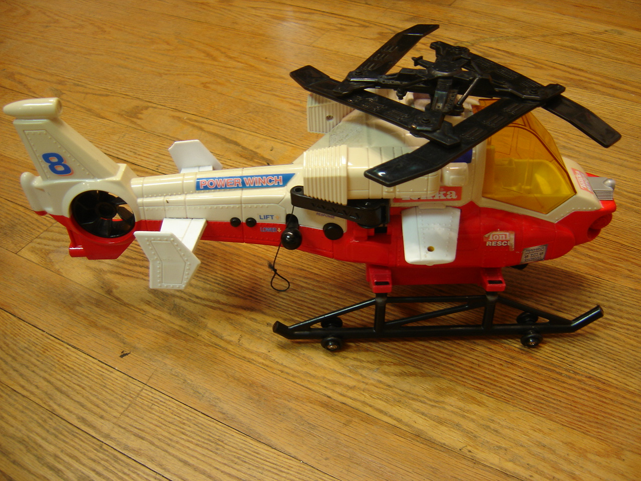 Tonka Rescue Power Winch Helicopter Red And White