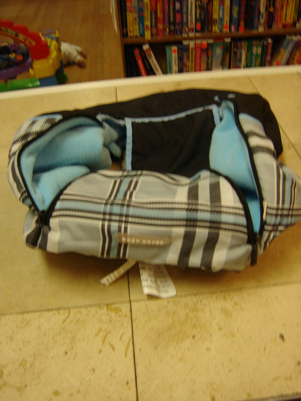 Cozy Cover Car Seat Cover Blue and Black Plaid