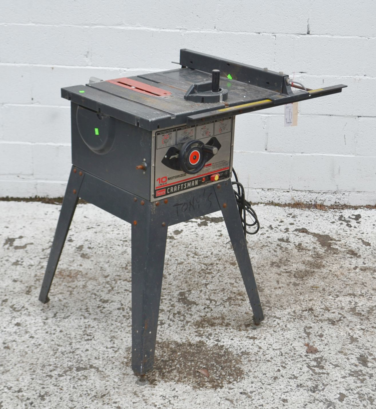Craftsman 10 Inch Table Saw Model 3758 39 Ebay
