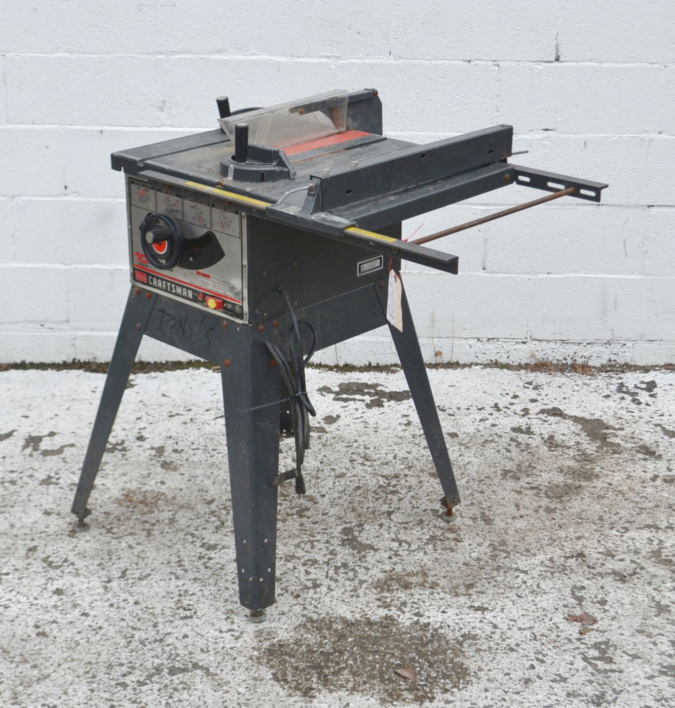 Craftsman 10 inch table saw model 3758 39 ebay Used table saw