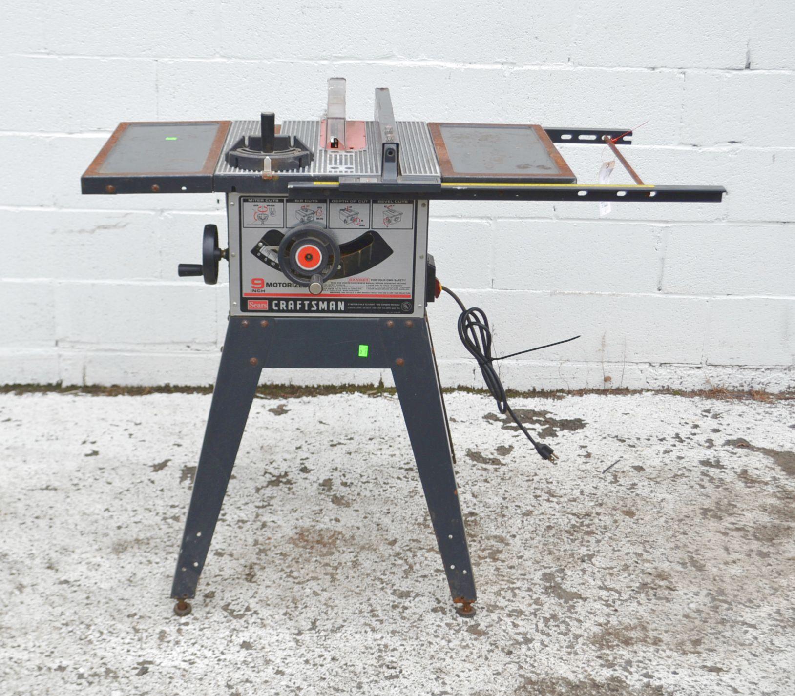 Craftsman 9 Inch Table Saw Model 3758 40 Ebay