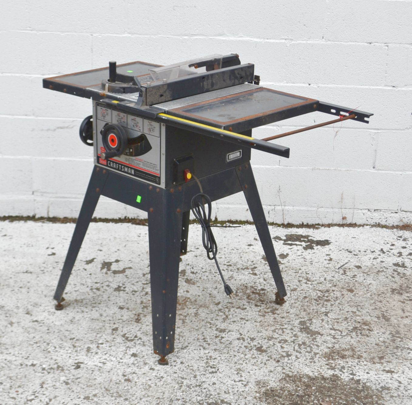 Craftsman 9 Inch Table Saw Model 3758 40 Ebay