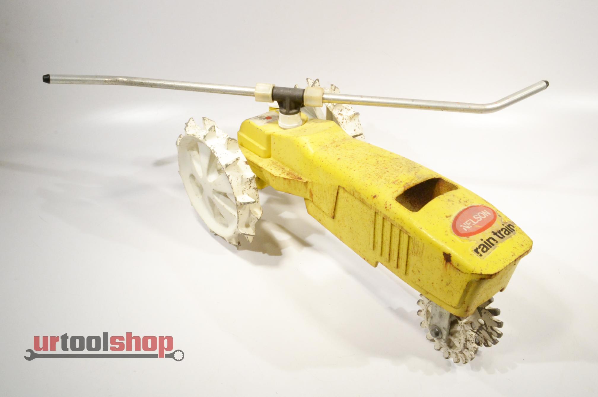 Traveling Lawn Sprinkler Tractor : Nelson rain train traveling lawn sprinkler tractor