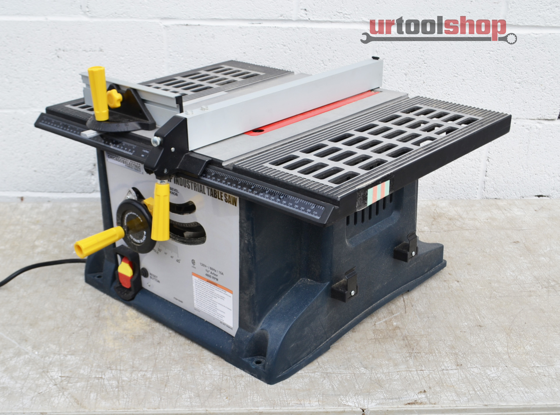 Chicago Electric Power Tools 10 15 Amp Industrial Table Saw 6767 1656 Ebay