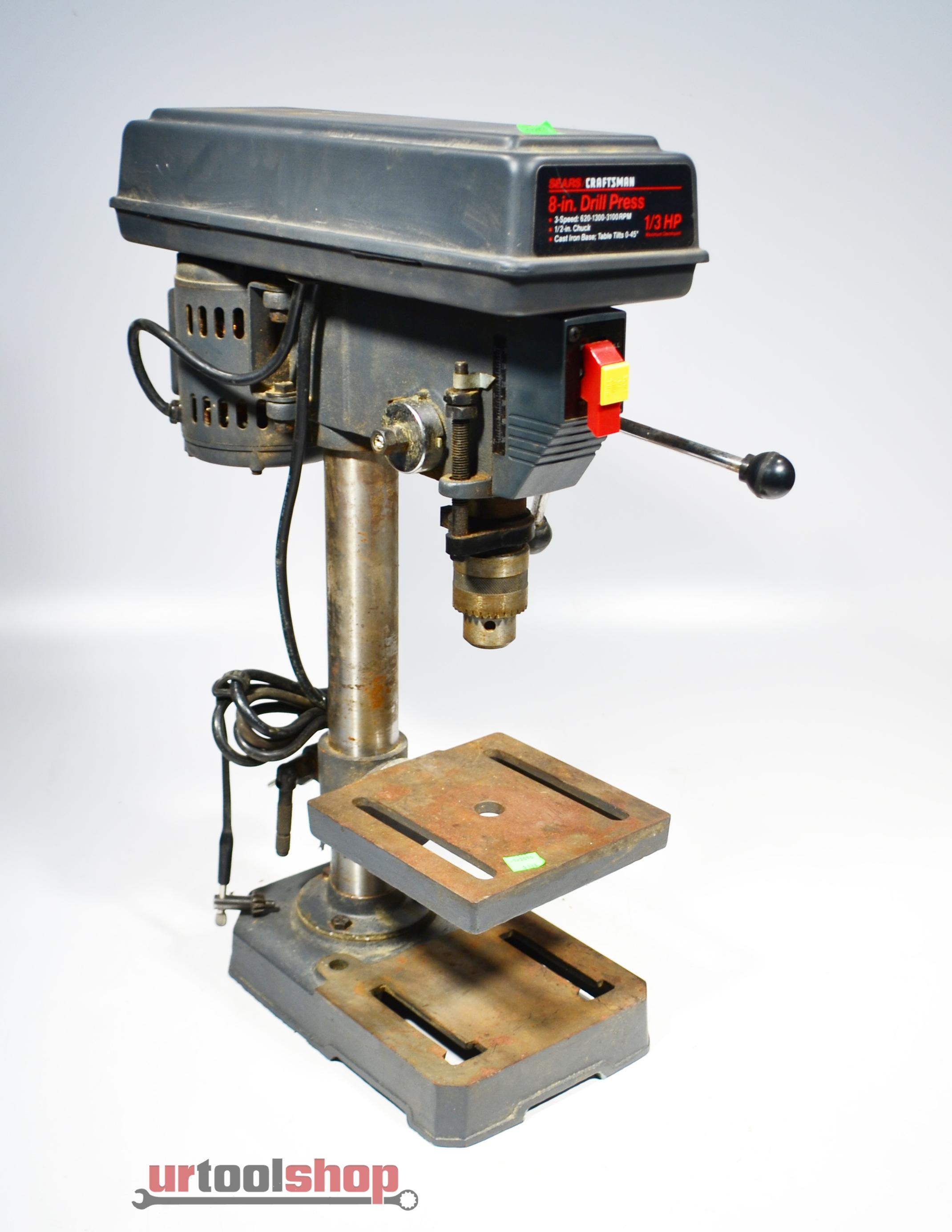 craftsman 8 in 1 3hp 3 speed bench drill press 1333 41 ebay