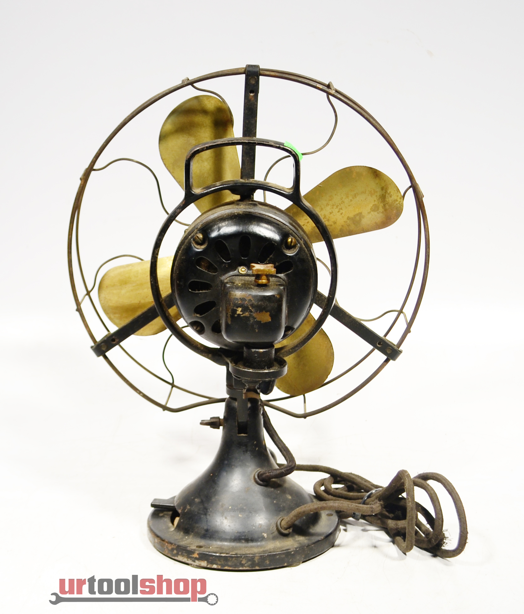 Buying Electric Fans : Vintage quot hunter electric fan brass blades cage