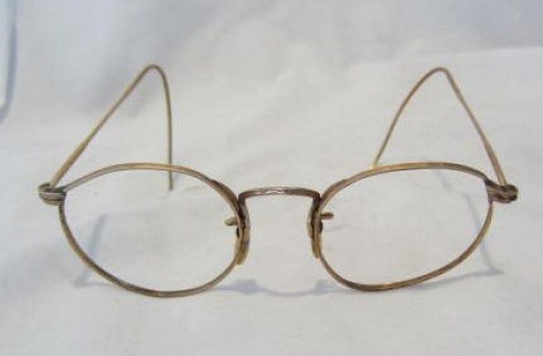 Gold Wire Eyeglass Frames : VTG Ful Vue gold wire rim eye glass eyeglass frame 12K eBay