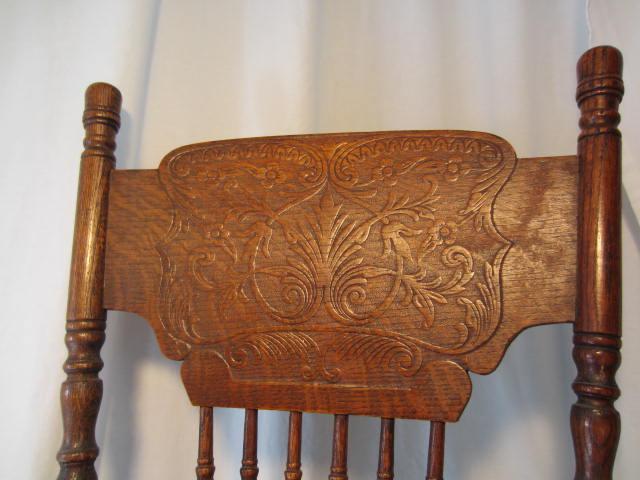 Vintage Child Wood Rocking Chair Cane Seat 1800 S