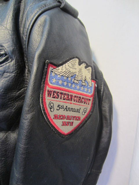 Avirex Black Leather Motorcycle Jacket Indian Rodeo M