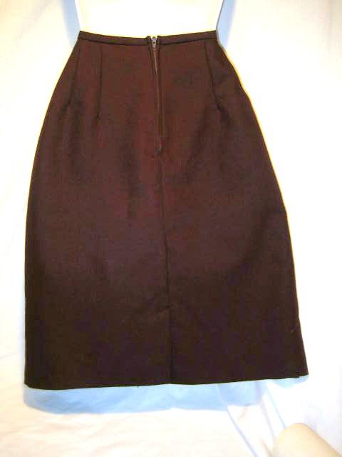 briggs chocolate brown pencil skirt 6 ebay