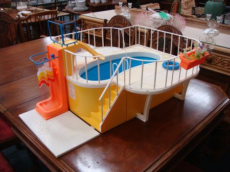 Vintage Barbie Dream House Swimming Pool 1980 Toy Toys
